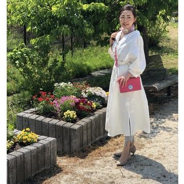 春のシャツワンピコーデで箱根旅•.*•