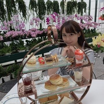 お花に囲まれてアフタヌーンティー♡マジェスティックホテル