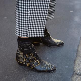 「スタッズ靴」で エッジ感をひと盛り【ファッションSNAP ミラノ・パリ編】