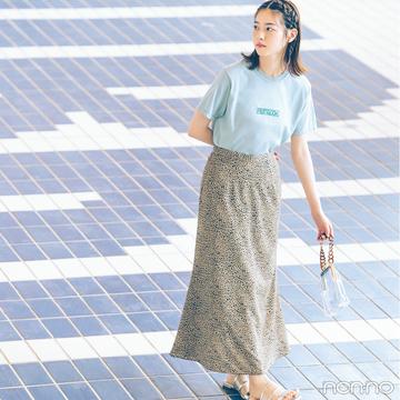 西野七瀬はレオパード柄スカートで秋トレンドを先取り!【毎日コーデ】