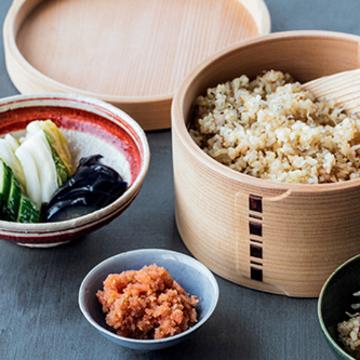 たらこと炒りじゃこの玄米ごはん