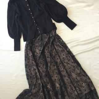 「黒コーデ」♪私の華盛りワードローブ♡『HARDY NOIR』ドット×レーススカート