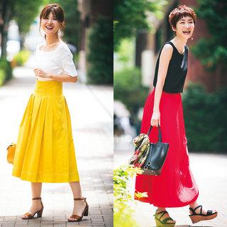 トレンドのきれい色は、華やかな笑顔と相性抜群【美女組ファッションSNAP】