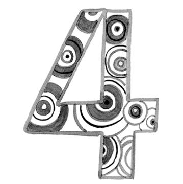 イヤーナンバー「4」