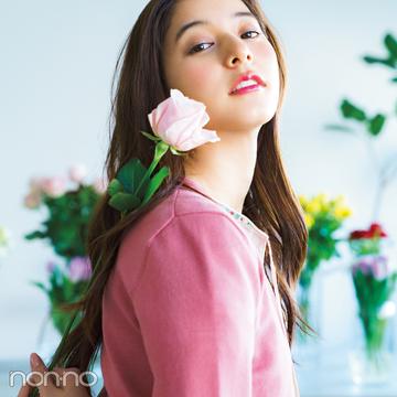 新木優子が着こなすパステルニット♡ 色はやっぱり○○○!【春コーデ2019の正解】