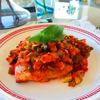 抗酸化食材を味方につけて!サバと夏野菜のトマト煮