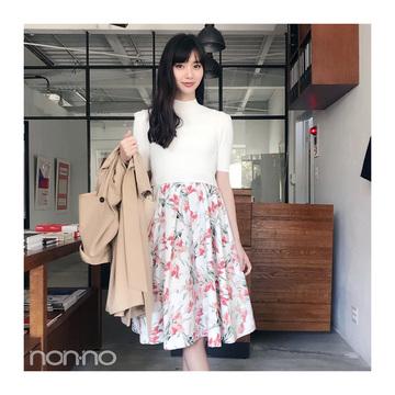 新川優愛が着るsnidelドッキングワンピコーデ【毎日コーデ】