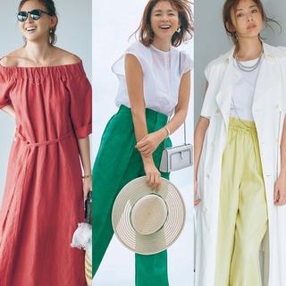 アラフォーを素敵に見せる夏のきれい色アイテムと着こなしテク
