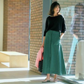 人気スタイリスト発!「徳原文子×Chaos」のリネンスカートで夏の洗練スタイル