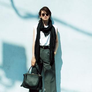 ■自信のもてる極上の黒は、Tシャツにさらりとが粋