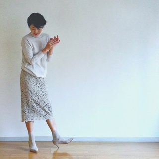 冬だからこそ白が着たい!淡いトーンでミルキー配色を実践