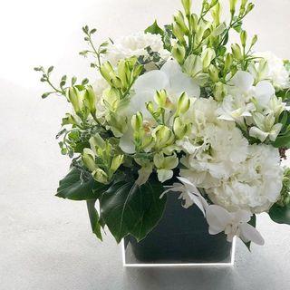 【花のある暮らし】白とグリーンのブーケ