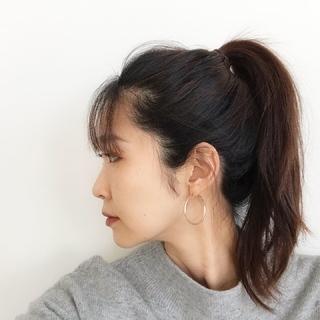 40代になってから初めての前髪。自分の顔立ちとのバランスを考えながら。