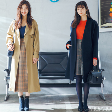 新川優愛と新木優子が共演♡ 12月のモテる着回しコーデ14days【第1話】