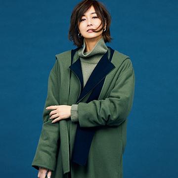 「ブラミンク」のコートでさりげない素敵さ&女らしさを!【つかず離れずシルエット①】