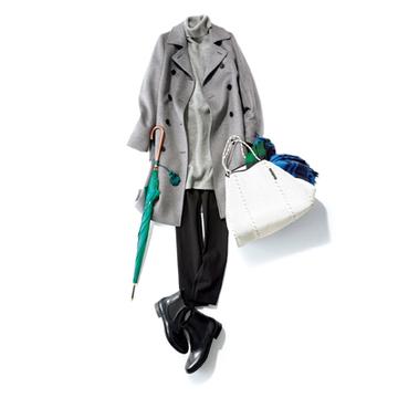 【Day10】厚手レギパン×ラバーブーツで雪対策も万全!【冬の洗練パンツ30days】