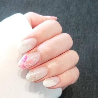 ネイル ピンクネイル 春ネイル