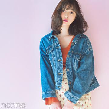 ミラ オーウェンの春の新作Gジャン♡ 襟抜きで女っぽさアップ!