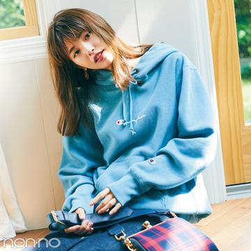 七瀬&優華がお手本♡ メンズサイズのスウェットで女の子っぽコーデ4選!