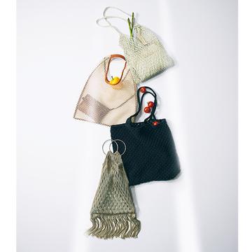 【しゃれ見えマーケットバッグ】コンパクトになる「メッシュバッグ」は携帯にも便利!