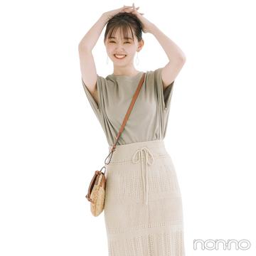 くすみトーン×透かし編み。人気のワントーンは素材や色で差を!【毎日コーデ】