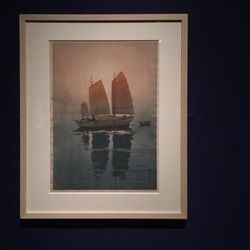 吉田博展で、木版画による世界旅行を。