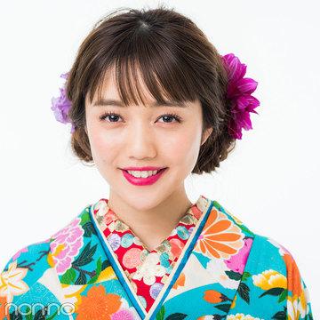 成人式の髪型で差をつけたいロングさん、花盛りシニヨンで写真映え確実!