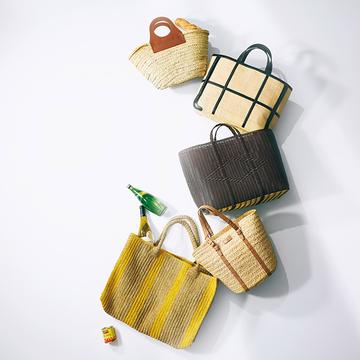 【しゃれ見えマーケットバッグ】「かご素材のマーケットバッグ」は夏らしくて収納力も抜群!