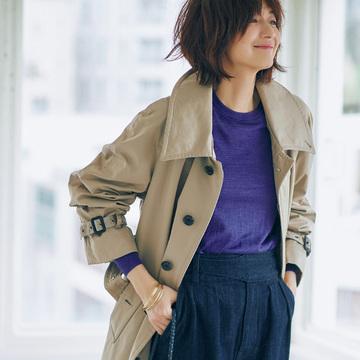 富岡佳子が着こなす!村山ワードローブでつくる「秋の日の5Days」 五選
