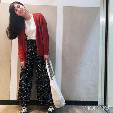 新川優愛のドットを効かせたゆるカジュアルが可愛すぎ♡【モデルの私服スナップ】