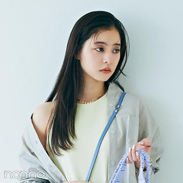 新木優子★ ミニバッグやくしゅくしゅバッグ、ハズしアイテムはキャッチーさで選ぶ!【今どき大人フェミニンコーデ】