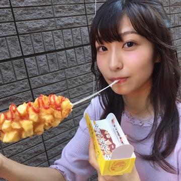 凄くのびるチーズ♡アリランホットドッグ!!!