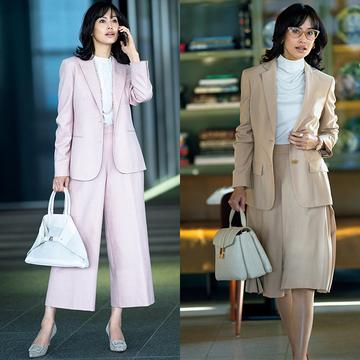 【上質素材の淡色スーツ4選】きれい色に大人の余裕が表れるいち推し春スーツ