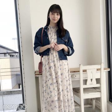 新川優愛は花柄ワンピをクリアサンダルで夏仕様に!【毎日コーデ】
