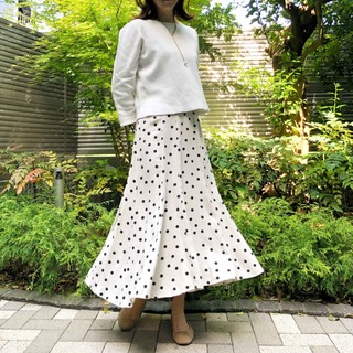 アラフォー向け「白✖️ベージュ」のプチプラミックスコーデ《ゆっこのファッション》