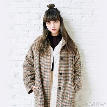 GUで全身コーデ♡ チェックのコートを主役に冬のこなれカジュアル!【毎日コーデ】