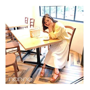 毎日コーデ★鈴木友菜はシンプルコーデを夏小物で盛り上げ!