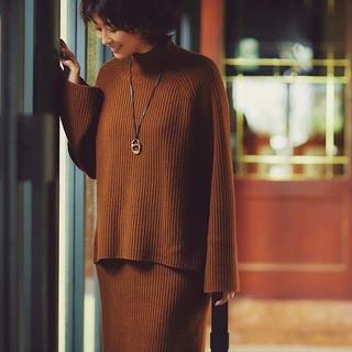 「ニットセットアップ」のほめられコーデまとめ【2019年冬・40代ファッションコーディネート】