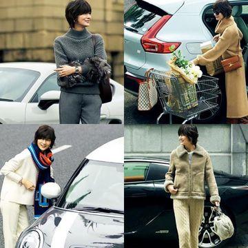 50代女性にふさわしいラグジュアリーな『車に乗る日の着こなし』お手本コーデ