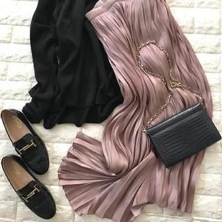 5千円で究極のスカート発見!老け見えしない大人ピンク 【高見えプチプラファッション #141】