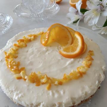 マイヤーレモンのレアチーズケーキを作りました
