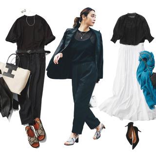 涼しげで洗練された雰囲気を演出する夏のモノトーンコーデまとめ|40代夏ファッション