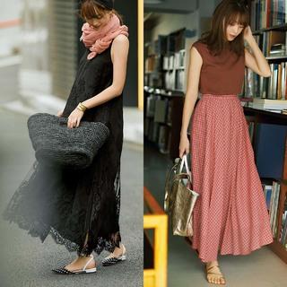 スカート派・蛯原友里の「フラット靴」でもきれいで女っぽいコーデの作り方