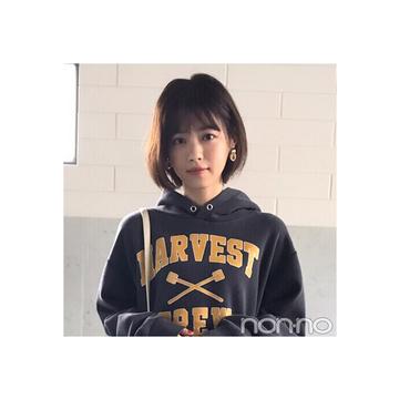 西野七瀬はパーカ×スニーカーでも甘め♡コーデ【毎日コーデ】
