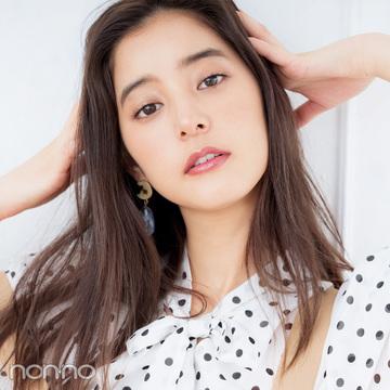新木優子のお姉さんメイクHOWTO♡ 甘めの水玉トップスをオトナ可愛く見せるには?