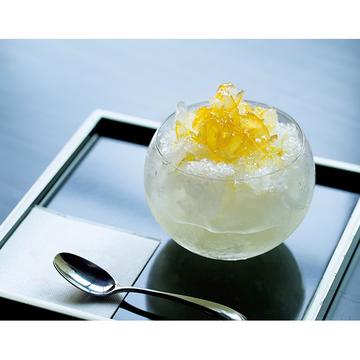 4.オリジナルのシロップで大人のシンプルかき氷