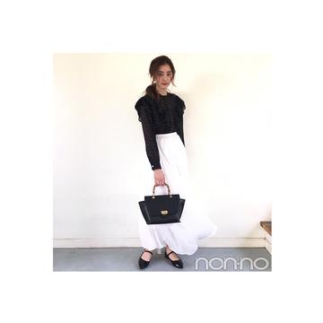 新木優子はノスタルジックなドットでパリジェンヌ気分【毎日コーデ】