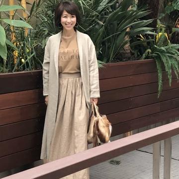春の麻コート