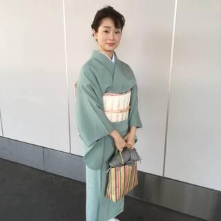 アラフォー母、中学入学式で着物を着る!
