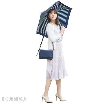 パステル配色に白カーデをはおって誰より好感度高い組み合わせに!【毎日コーデ】